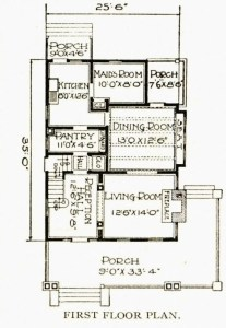 "Sears Arlington House Plan from the Sear's Catalog 1919 is almost exactly like our floor plan.  I spy the ""maid's room""  Photo cred: http://www.searshomes.org/"