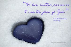 ice heart in snow