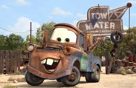 "Google Search for ""Tow-Mater"" yielded this adorable pic.  If this is your pic and you would like me to take it down I will- no problem."