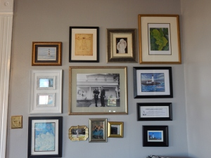 One of the walls I worked on- adding and rearranging pieces.  Still need to fix some that are crooked.